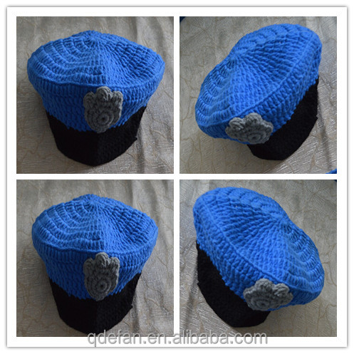Crochet Policeman Hat Set - Crochet Police Set - Policeman Hat and Diaper -  Photo Prop 950ed563720