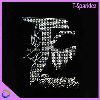 Greek Letters J And K Rhinestone Iron On Transfer For Fabric