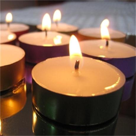 Colored Metal Basis Long Burning Time Tealight Candle