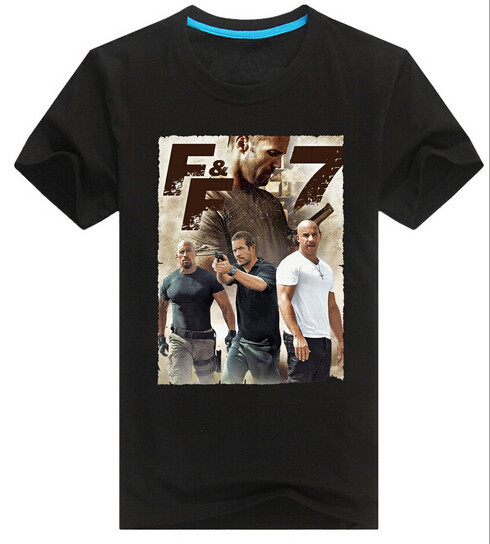 Fast furious 7 poster print men t shirts summer style hiphop cars print men shirts top tees men shirts camisets