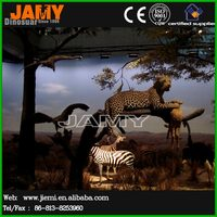 Life Size Simulation Animal World Leopard Model