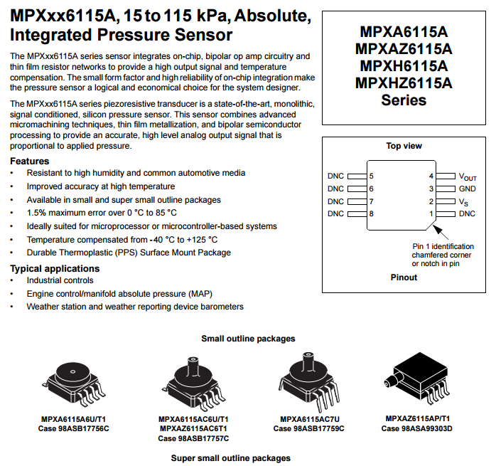 MPXAZ6115AC6T1 type of IC Chips Integrated Circuits