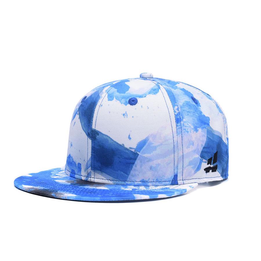 Desain Baru Grafiti Langit Biru Putih Pria Adjustable Topi Baseball Snapback Mesh Murah Womens Hip Hop Trucker