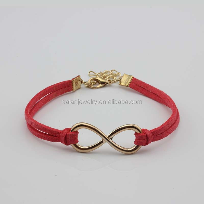 Leather Bangle Bracelet Teen Boys Girls Ladies Mens teen cheap infinity gold leather bracelets