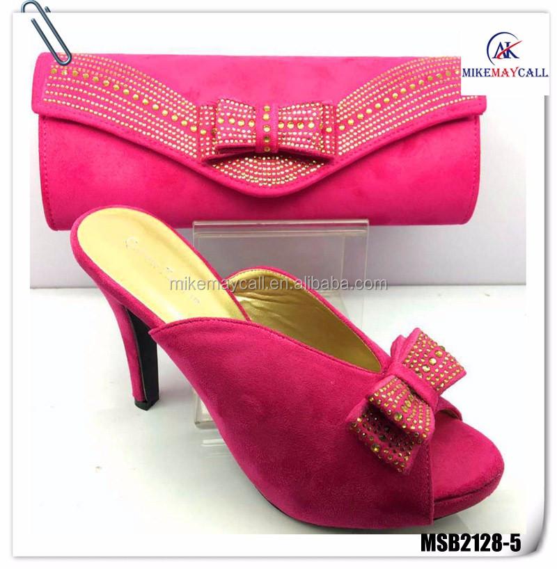 2017 rosa Zapatos Italianos A Juego Con Alta Calidad 10 CM señoras de los  altos talones 924d549da5d6