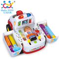 Ambulance Toy Doctor Kit Plastic Ambulance Car with Lights and Music Electric Car Learning Education Toys