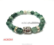 2015 new designs charm elastic fabric bead bracelet, cheap buddha bracelet