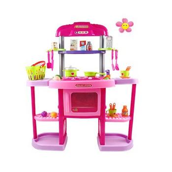 Girls Pink Plástico Cocina Unidad Para Jugar En Casa Niñas Rosa ...