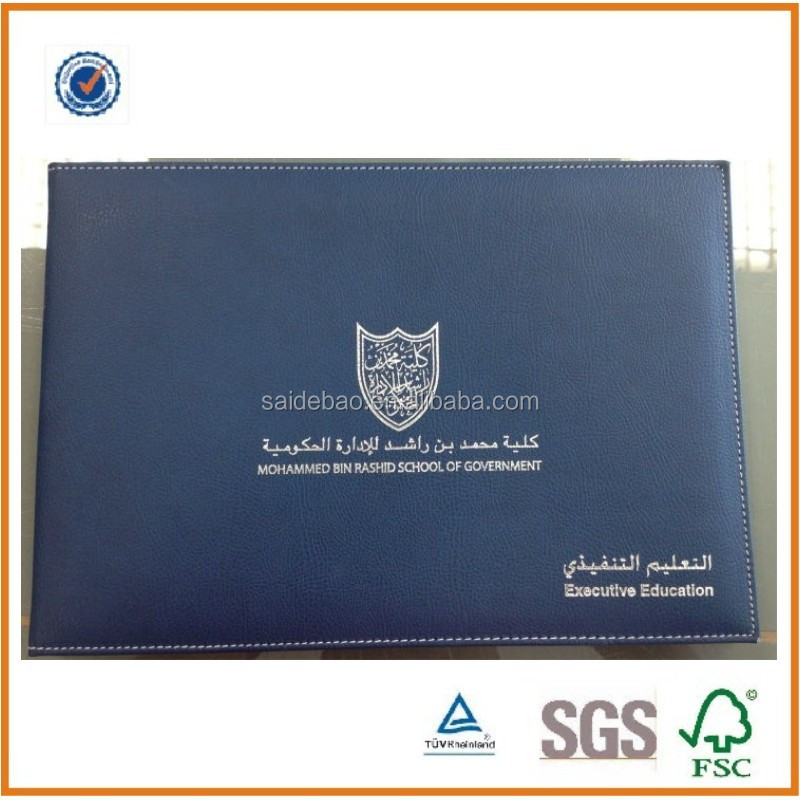 High Quality A4 Leather Diploma Holdercertificate Folder With