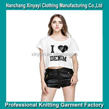 2018 Fashion Latest Girl S Printed T Shirt Printing As Your