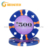14g Clay TriColor Hourglass Design Suited Poker Chip