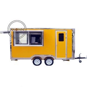 CE approved towable outdoor fast food kiosk/food kiosk design ideas