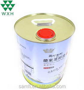 5L Factory Supply High Quality Food Grade Empty Edible Oil Tin Can Metal Cooking Olive Oil Tin Cans Round Tin Can with lid