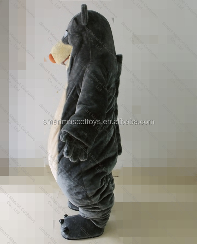 Fancy design on furry bear costume life size walking adult bear costume