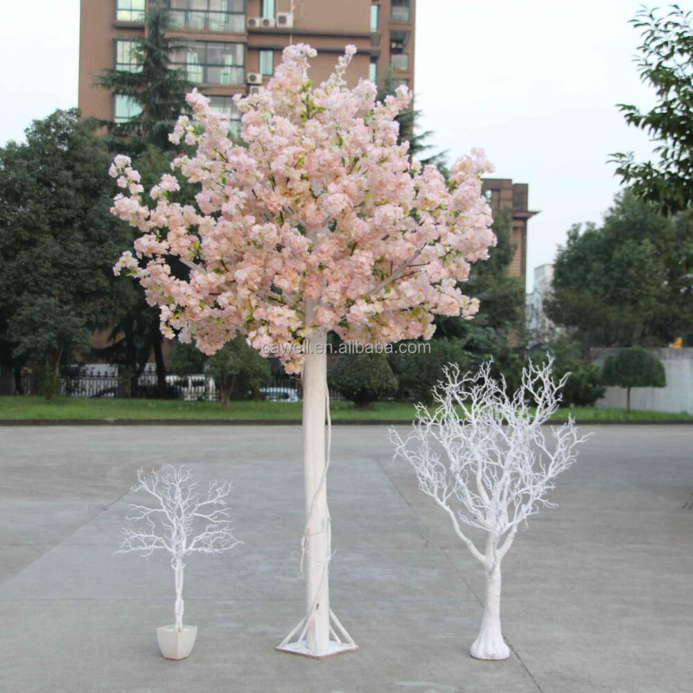 wedding stage silk artificial trees cherry blossoms