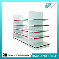 Double sided dollar shop shelves