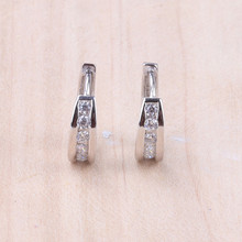 Hot Wholesale 925 Sterling Silver Jewelry Huggie Earrings For Women