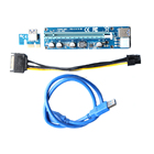 wholesale bitcoin miner pci capacitor pci-e pci e express 1X to 16X riser card with 60cm usb 3.0 6pin SATA cable