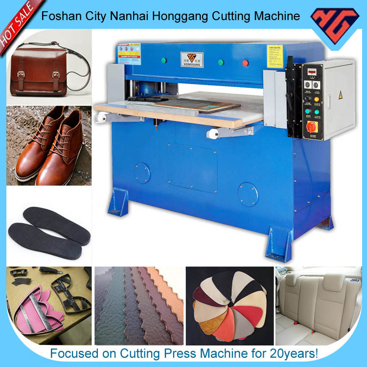 semi-automatic plane press cutting machine for leather