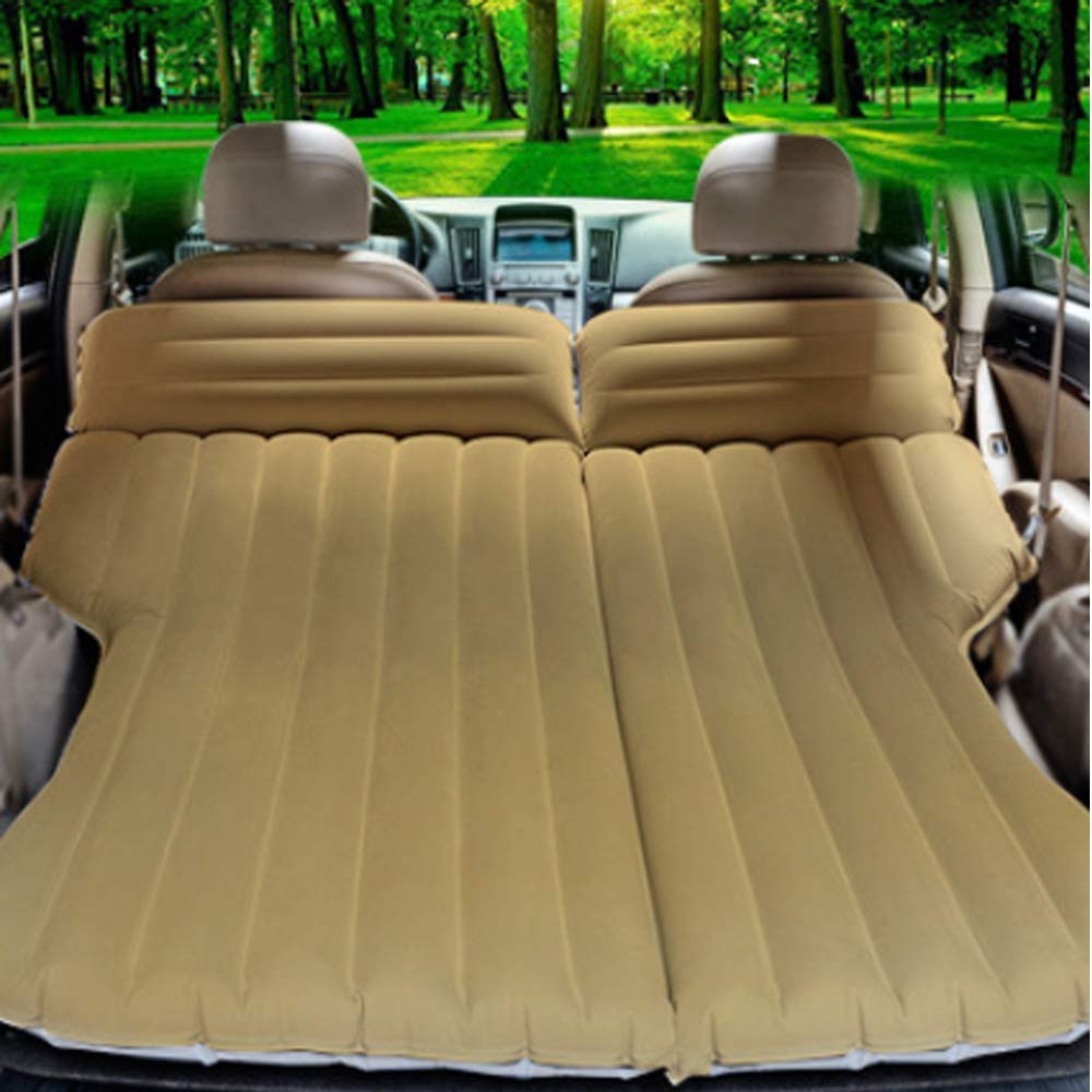 YHJM Car Inflatable air Bed Flocking car Bed Long-Distance Travel Inflatable Bed SUV Mattress