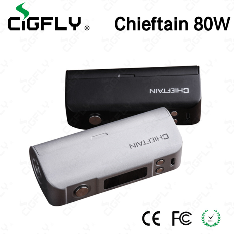 2016 newest prodcut from cigfly wotofo chieftain 80w box mod high quality wotofo chieftain 80w tc mod for wholesale