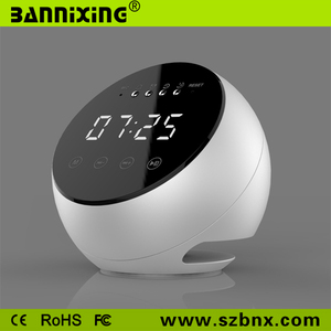 Touch LCD screen bluetooth speaker clock radio controlled
