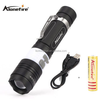 AloneFire X190 Portable CREE T6 Rechargeable COB LED Flashlight Torch 6 Mode Zoomable Camping Bike Light Lamp Lanterna