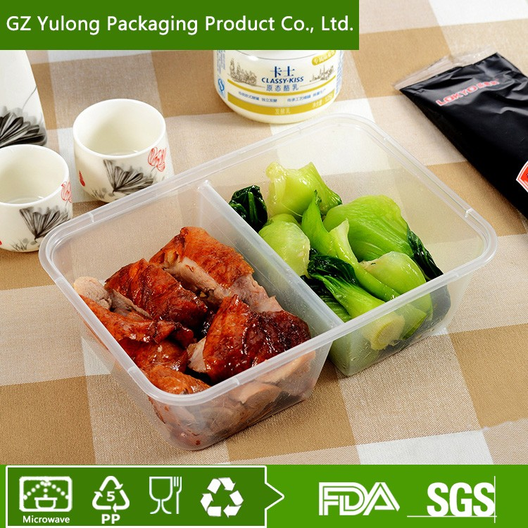 Disposable 2 Compartment Microwave Take Away Food packaging Boxes