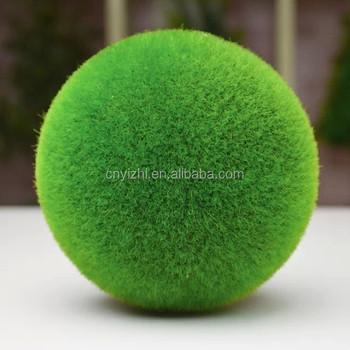 Decorative Moss Balls Adorable Yzp48 Wholesale Artificial Green Grass Ball Quality Product Moss