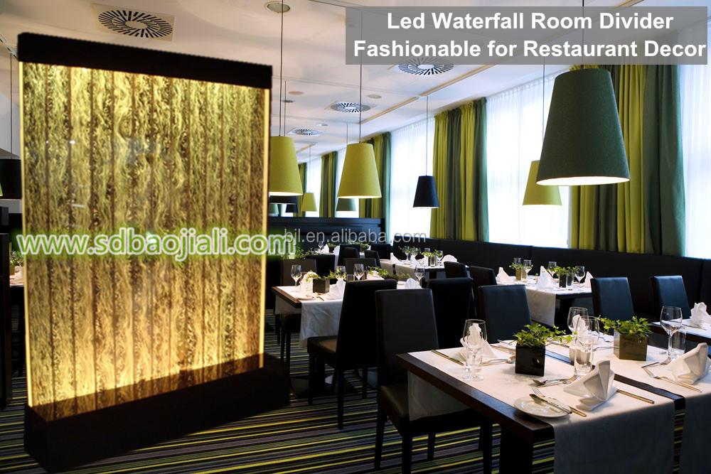 Led aquarium wall waterfall hall decorations wedding buy