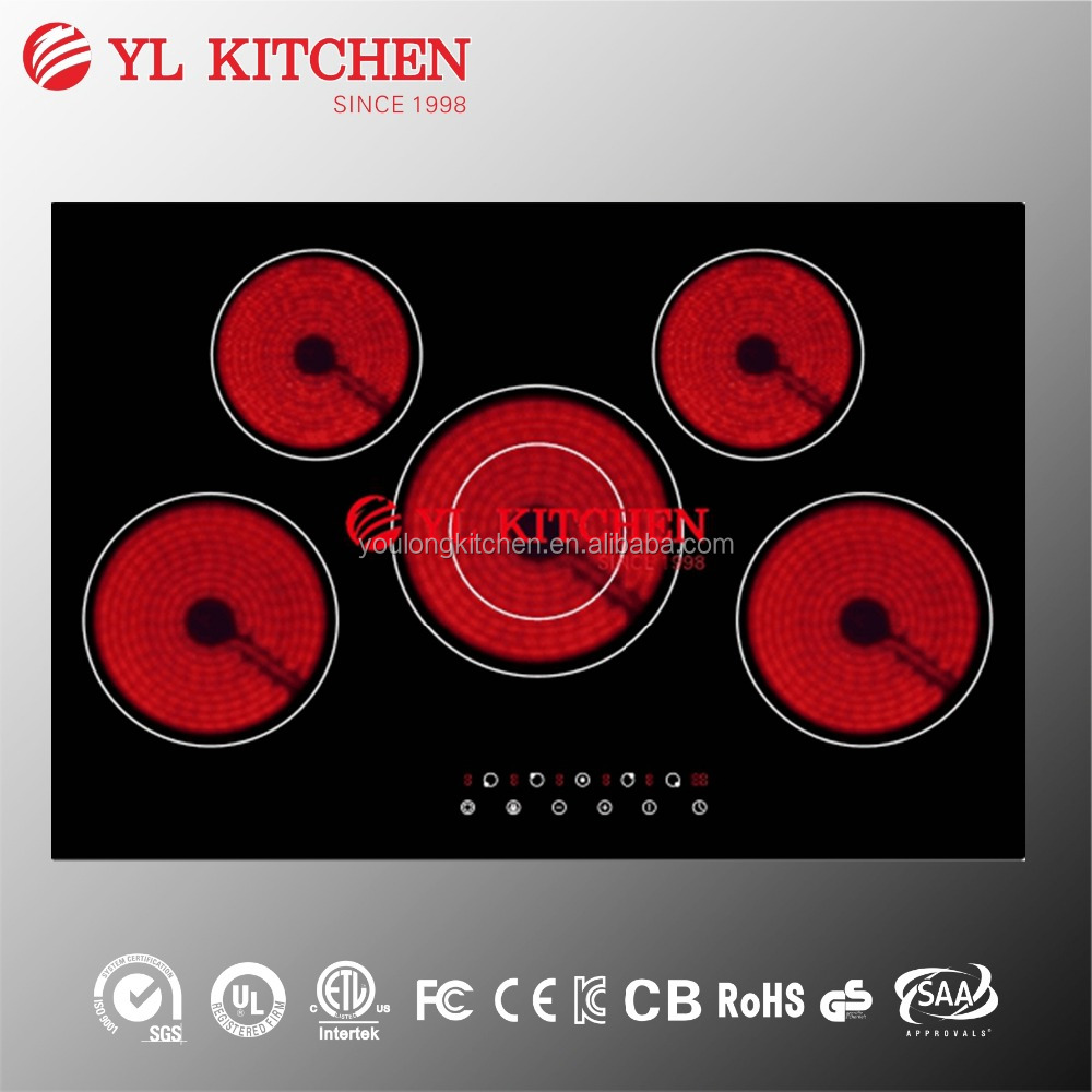 Built in 77cm electric radiant cooker /hob for home kitchen