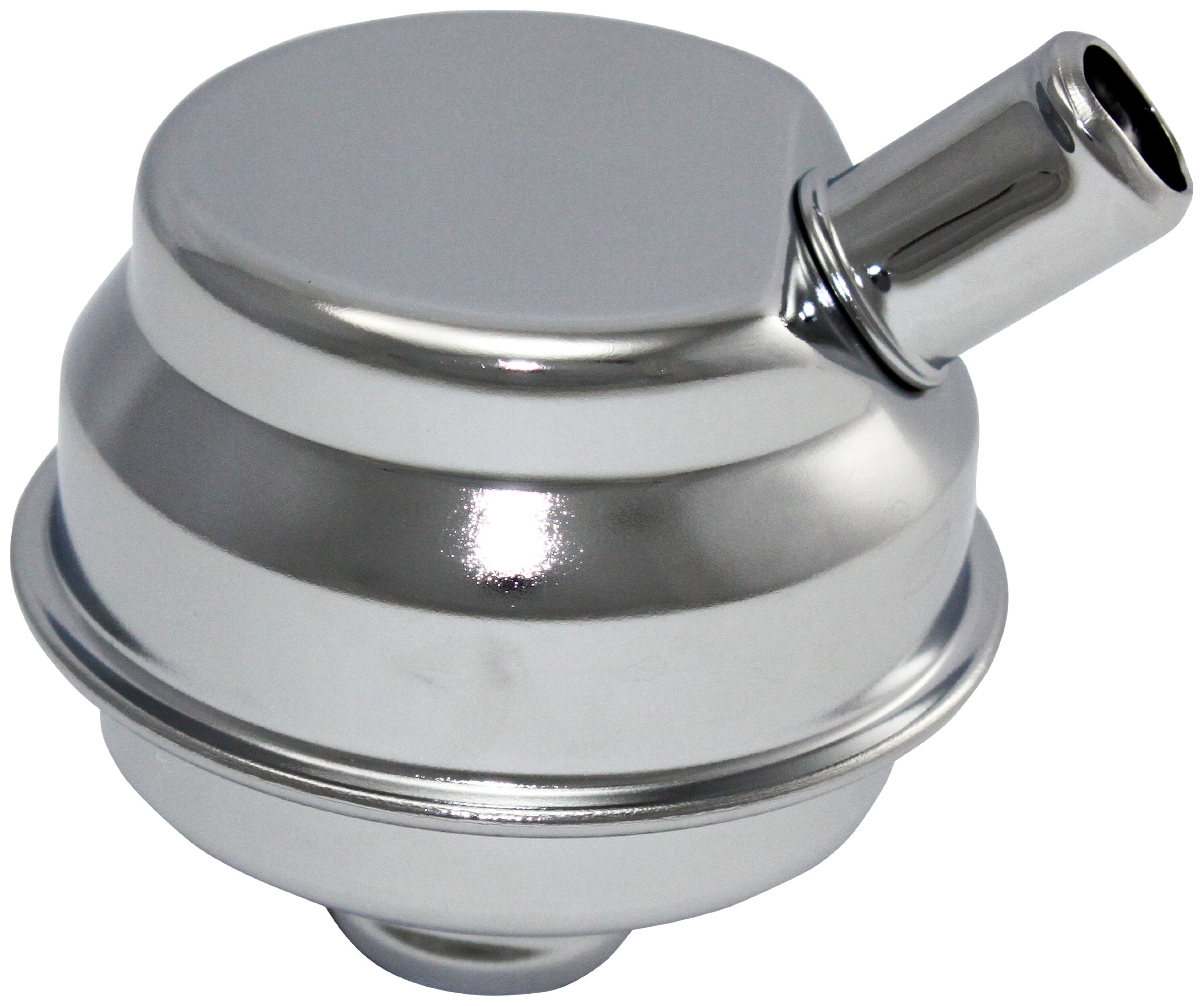 """Mota Performance A70160 Chrome Plated Push-In Valve Cover Oil Filler Breather Mopar Style 1"""""""" Stem with 5/8"""""""" Vent Tube"""