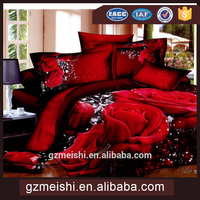 100% cotton indian 3D printed bedding set from guangzhou meishi