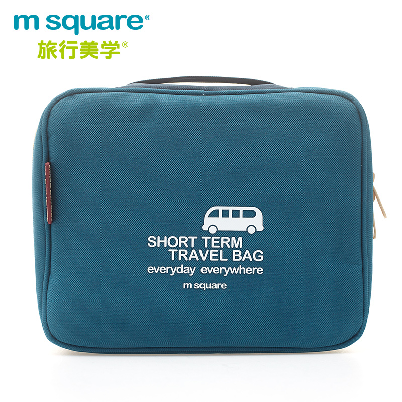 luxury travel polyester m square brand mens cosmetic bag as gift