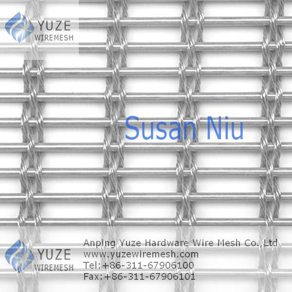 Decorative Stainless Steel Architectural Wire Mesh Fabric for Curtain Wall