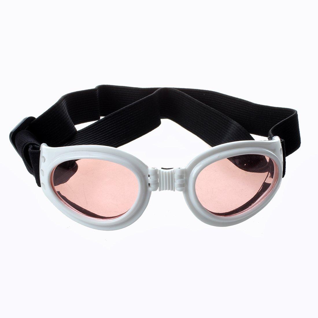 TOOGOO(R) White Framed Pet Puppy Dog UV Protection Goggles Sunglasses Eyewear