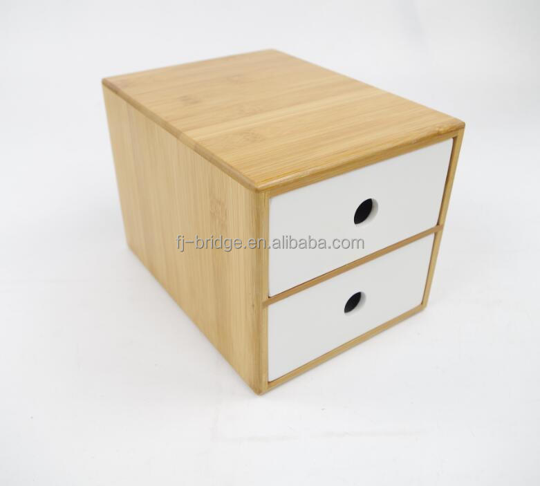 Bamboo Table Desk Organizer drawer storage box