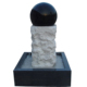 White and black marble rolling sphere fountain with small ball for garden or home,stone rolling sphere fountain