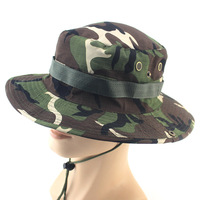 Best selling cheap camo hiking camping bucket hat fisherman hat Camouflage military hat cap