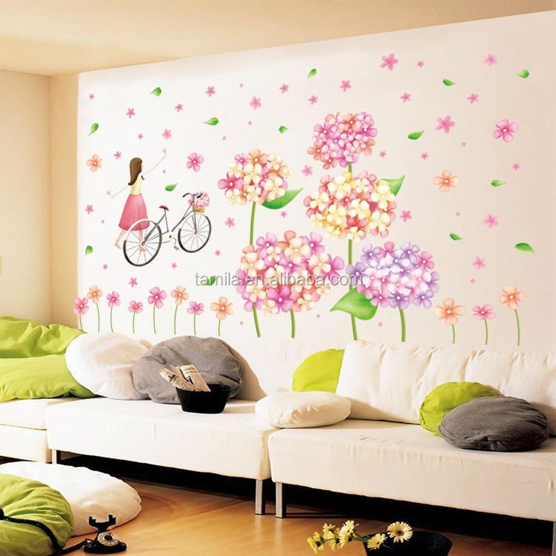 Vendita Caldo Big Size Flower Sticker Da Parete Fiore Di Plastica Art  Wallpaper Camera Dei Bambini Ingresso Cucina Wall Stickers - Buy Cucina  Adesivi ...