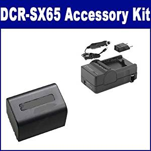 Sony DCR-SX65 Camcorder Accessory Kit includes: SDM-109 Charger, SDNPFV70 Battery