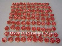 wooden bingo balls number on both side 90pcs per set