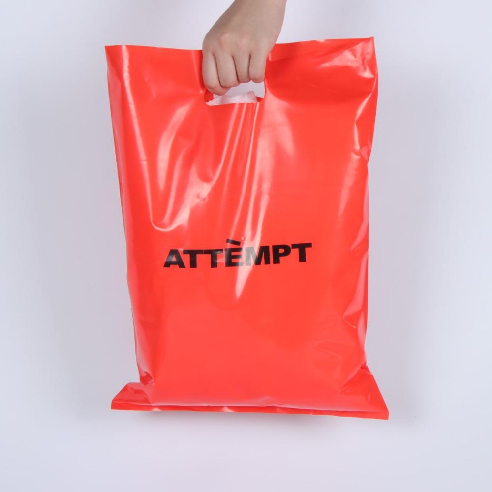 Conveniente Propio Logotipo Personalizado Transparente De Compras Útil Bolsas De Plástico Morir Cortar Plástico Golpe Bolso De La Manija Buy Bolsa