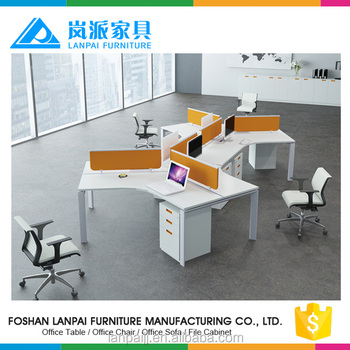 Modular Clerk Workstation L Shape Desktop Partition Office Staff Tables/work  Desks
