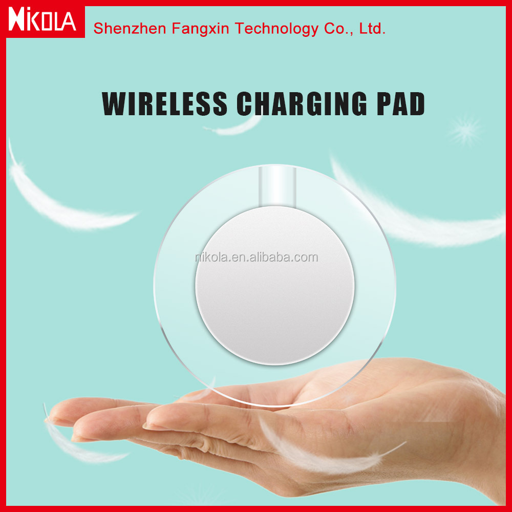 5 to 9W 1 coil fast wireless charger for android phone