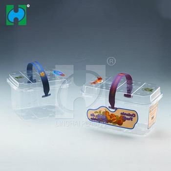 compartments clear plastic fruit container with cover Plastic Fruit Punnet Packaging