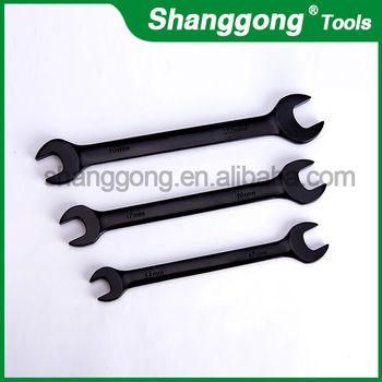 Dobule Open End Wrench Black Coating Lug Wrench Sizes - Buy Lug Wrench