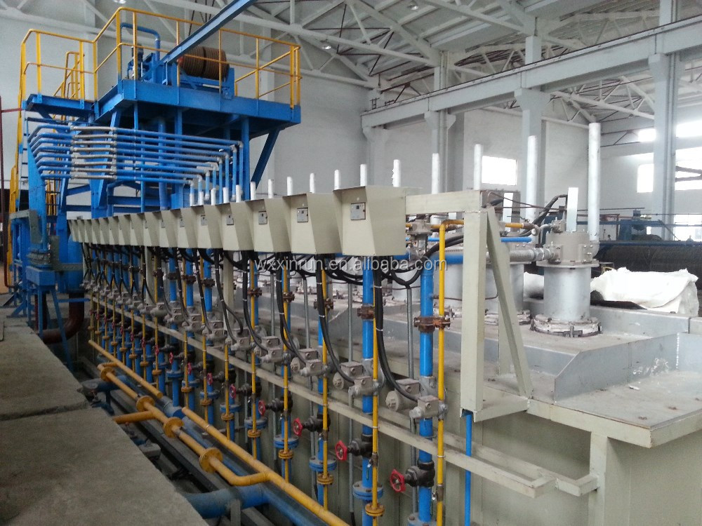 Automatic controlled machine for steel wire hot dip galvanizing production line