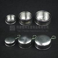 Hot selling foldable metal cup/stainless steel collapsible mug