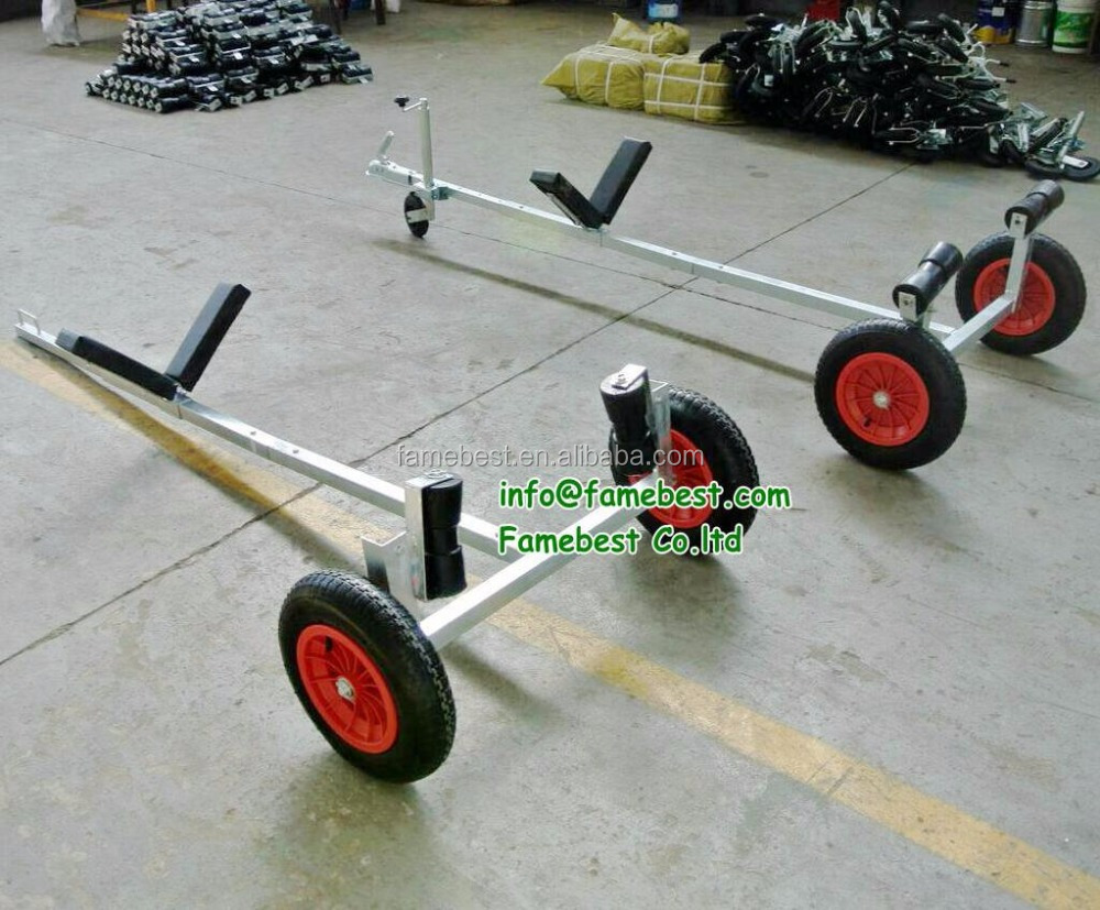 Galvanized Boat Trailer. Boat Dolly with 15'' Launching Wheels for small boats